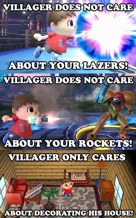 Animal Crossing Villager Meme - super smash bros the villager and wii fit trainer spawn