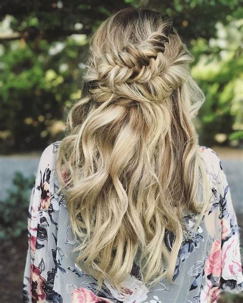 best 25 half up half wedding hair ideas on