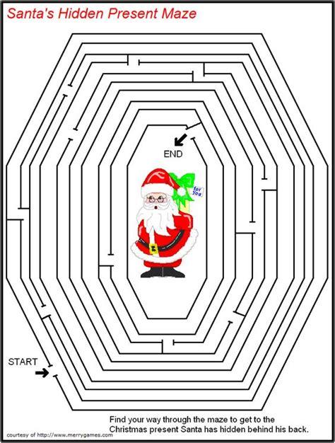 free printable christmas maze games free printable christmas mazes merry games color