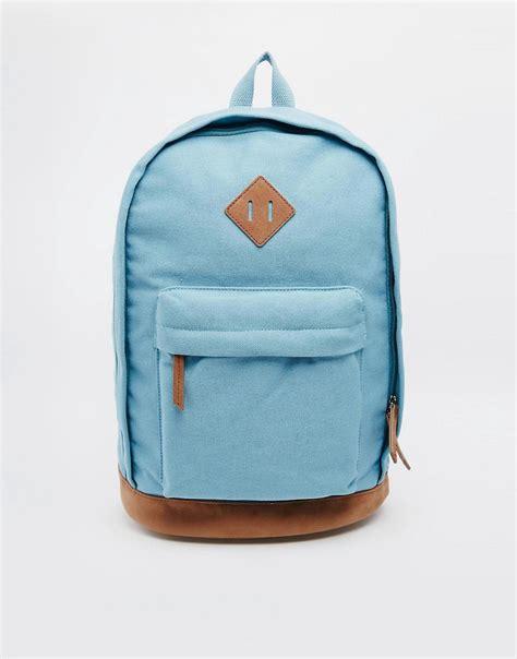 Light Backpack by Asos Asos Backpack In Light Blue At Asos