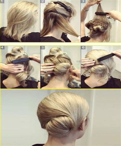 diy updo medium length hair how to do a simple updo for medium hair hair pinterest
