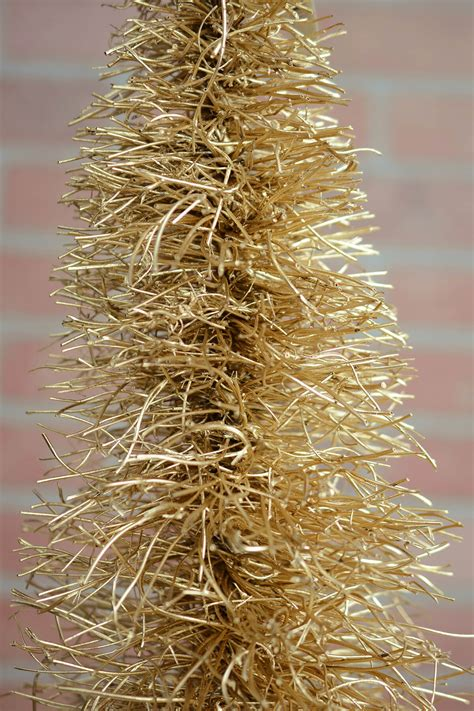 gold base bittle brush trees gold twig 31 quot bottle brush tree