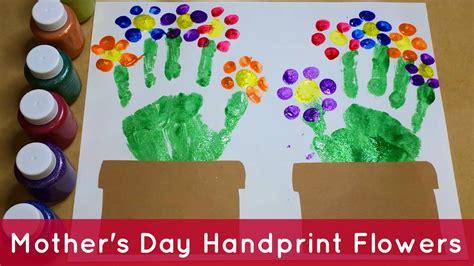 Garden Crafts For Preschoolers - handprint flowers preschool craft youtube