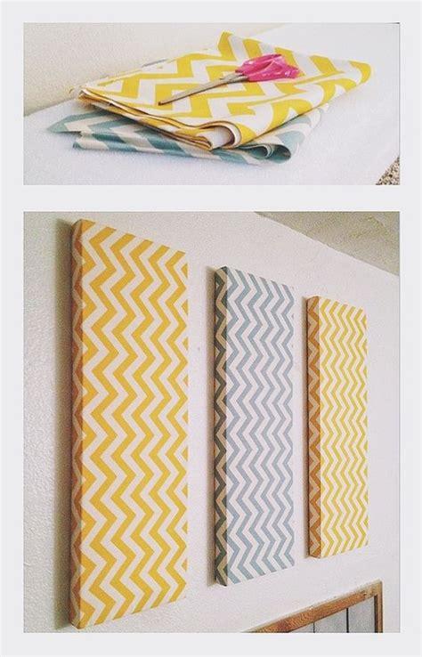chevron diy wall decor foam fabric and small nails