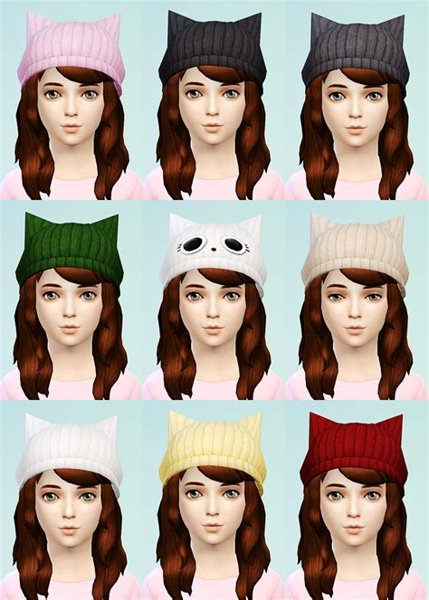 sims 4 beanie the sims 4 cat ear beanie knit beret for little girls