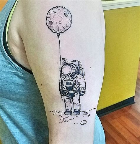 to the moon tattoo astronaut tattoos designs ideas and meaning tattoos for you