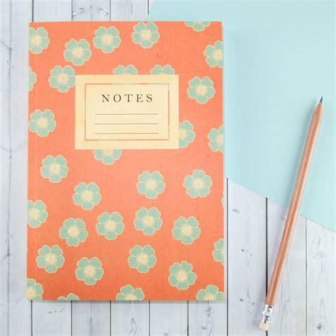 pattern of journal writing floral pattern writing journal by bookishly
