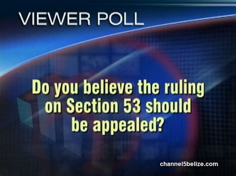 ruling section do you believe the ruling on section 53 should be appealed
