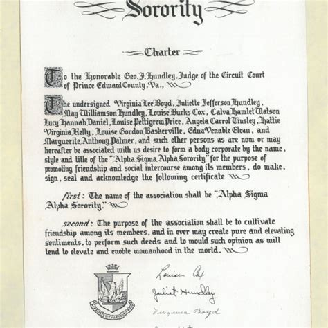 Parent Letter Sorority Initiation Alpha Sigma Alpha Interactive Timeline