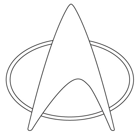 printable star trek logo star trek badge pattern google search diy pinterest