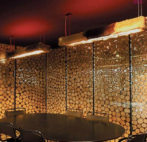 impressive wood log wall ideas