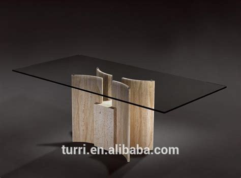 kd 125e luxury marble of the base glass dining table view