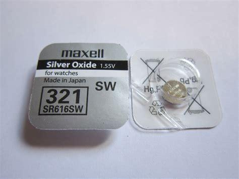 Sale Button Cell 321 Sr616sw maxell 1x sr616sw sw321 sw 321 1 55v silver oxide button