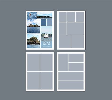5 picture collage template instant storyboard template photoshop template 5