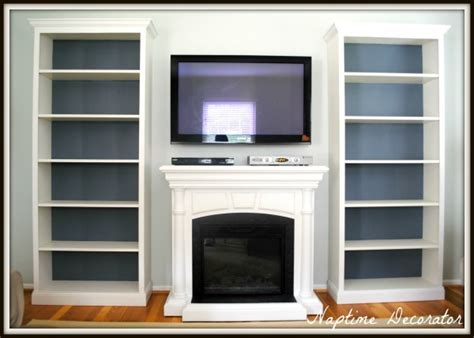 ikea fireplace hack the great billy bookcase fake out