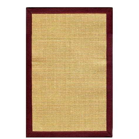 home decorators collection freeport sisal honey burgundy