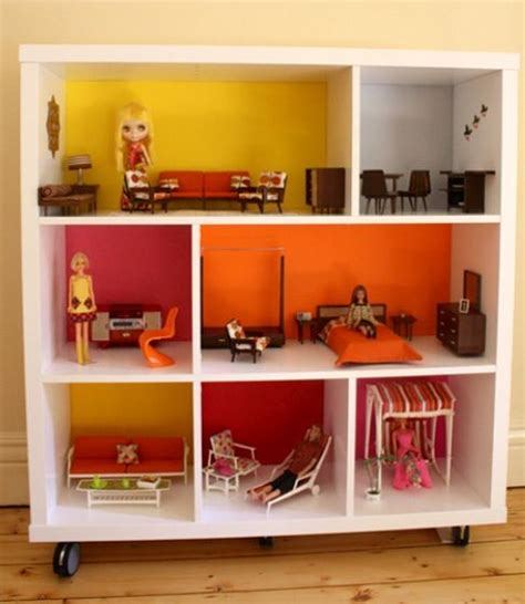 doll house shelf ikea hack rolling shelf as doll house clever ikea hack ikea hacks pinterest