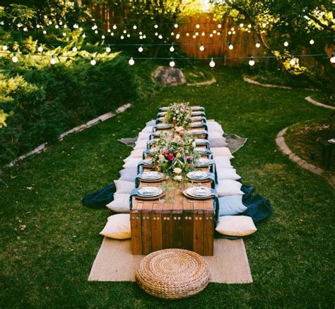 how to throw a backyard party 10 tips to throw a boho chic outdoor dinner party green