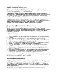 Acceptable Use Policy Template acceptable use policy template 2 free templates in pdf