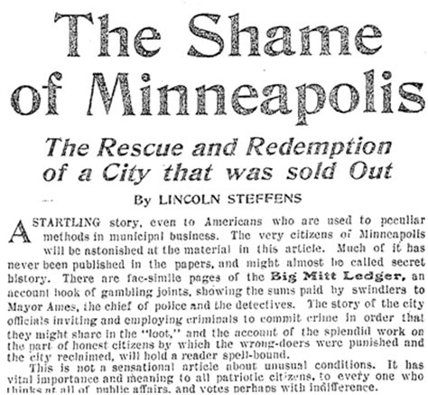 muckraker lincoln steffens lincoln steffens shame of the cities the muckrakers