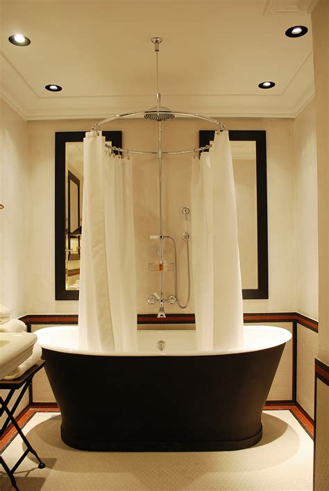 shower curtains for bathtubs stunning bathroom love the striking black bathtub the