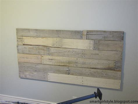 headboard pallet smartgirlstyle bedroom makeover pallet headboard