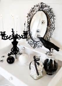 Black And White Halloween Decor Black And White Halloween Decorating Ideas Party Ideas