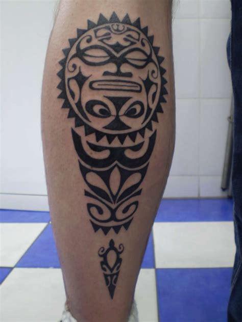 hawaiian leg tattoo designs gallery tiki hawaiian tattoos