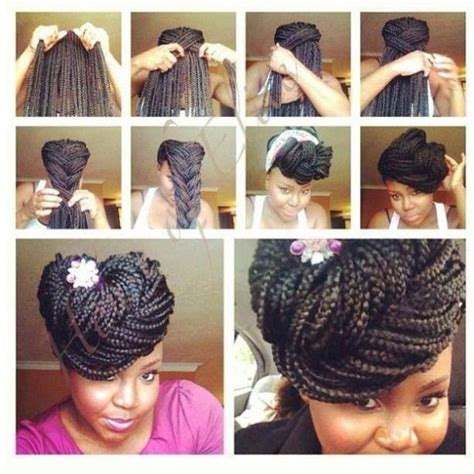braided pompadour hairstyle pictures 10 gorgeous ways to style box braids black girl with