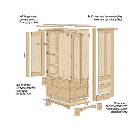Armoire Woodworking Plans by Cherry Armoire Woodsmith Plans