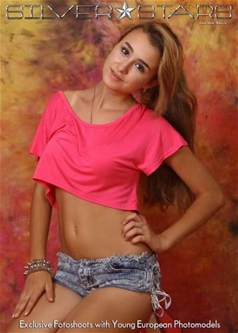 silver star teen model macie silver stars yulia denim shorts 4 187 x teenmodels