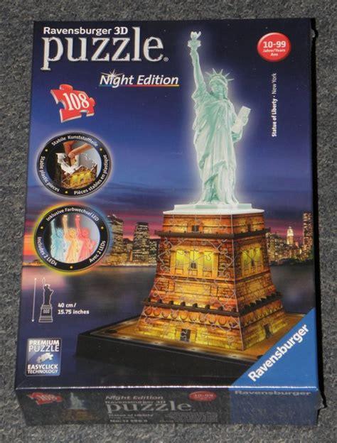 libro freiheitsstatue bei nacht puzzle freiheitsstatue bei nacht new york ravensburger 3d puzzle 2 led night edition ebay