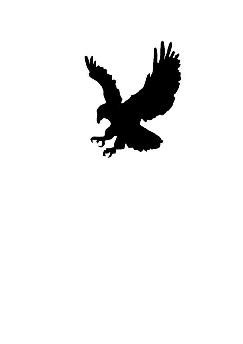 Black Hawk Outline by Hawk Clipart Clipart Panda Free Clipart Images