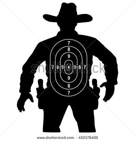 printable cowboy targets human gun target www pixshark com images galleries