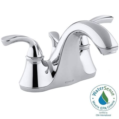 shop kohler forte polished chrome 1 handle low arc kitchen kohler forte 4 in centerset 2 handle low arc water saving