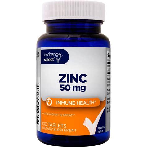 Tablet Zinc Exchange Select Zinc Tablet 50 Mg 100 Pk Diet Sports Outdoors Shop The Exchange