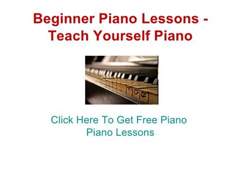 tutorial piano for beginners beginner piano lessons teach yourself piano
