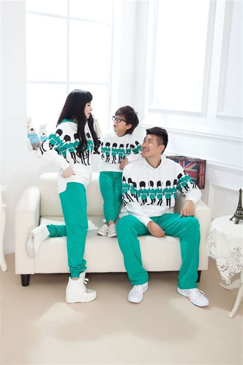 Family Matching Striped Pullover family matching hoodies and suits parent