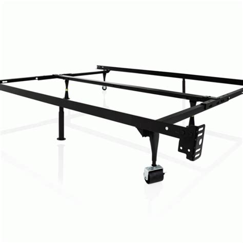 Metal Bed Frame Wheels 4 Way Universal Adjustable Metal Bed Frame With Wheels Overstock Warehouse