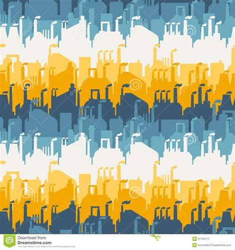 factory pattern là gì industrial factory buildings seamless pattern stock vector