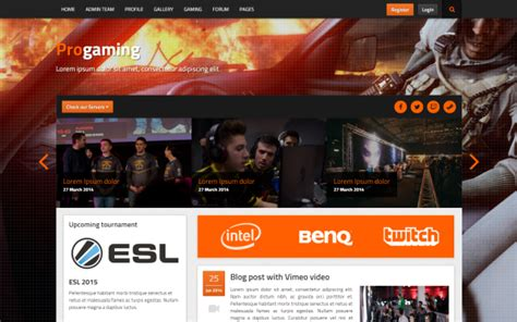 bootstrap themes games download progaming responsive gaming magazine bootstrap
