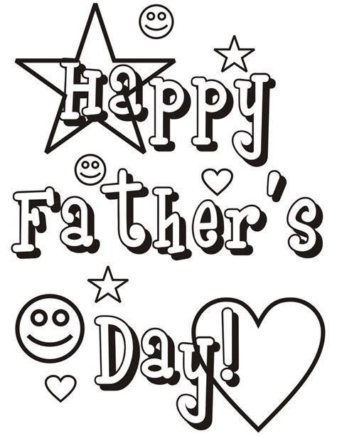Happy Fathers Day Coloring Pages Free Large Images Happy Fathers Day Coloring Pages