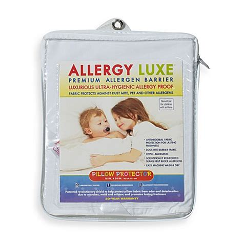 bed bug allergy allergy luxe 174 bed bug pillow protector buybuy baby