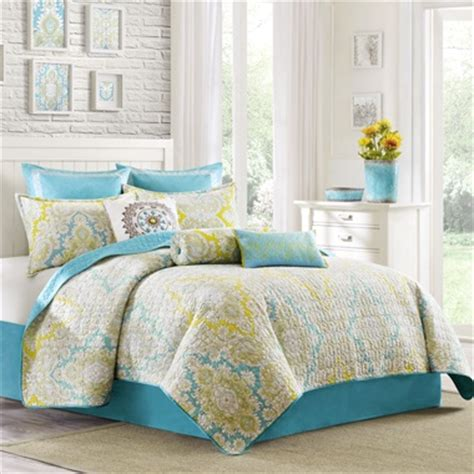 turquoise and yellow bedding grey blue and yellow bedding