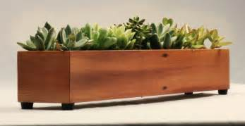 Indoor Planter Modern Wood Planter Box Indoor Window Planter By