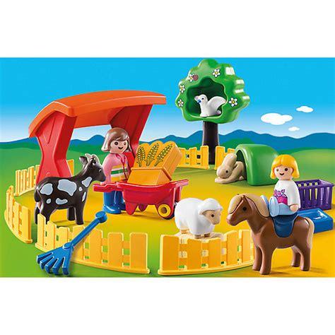Kinderzimmer Junge Playmobil by Playmobil 174 6963 1 2 3 Streichelzoo Playmobil 174 Mytoys