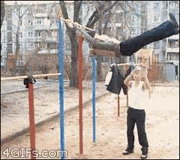 Acrobatic Swing by Bar Swing Acrobatic Fail Images Gif King