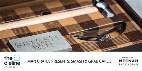 Smash And Grab Gift Card - the dieline awards 2016 outstanding achievements man crates presents smash and grab