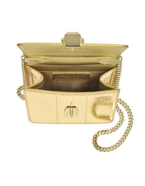 Roberto Cavallis Has Packed Bags by Roberto Cavalli Flap Mini Mekong Metallic Ayers Leather
