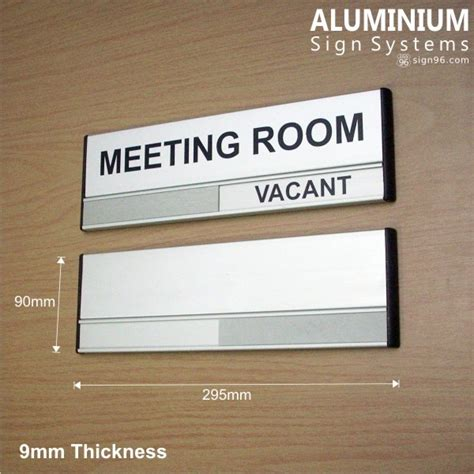 aluminium sign system slider conference meeting room door